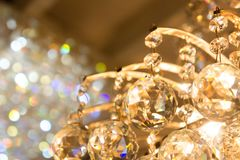 The glass ball Sparkling accessories of lamp.  stock images
