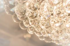 The glass ball Sparkling accessories of lamp Stock Image