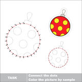 Glass ball to be traced. Vector numbers game. Stock Images