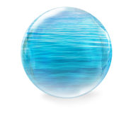 Glass ball with water Royalty Free Stock Images