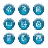 Glass ball web icons, set 14 Royalty Free Stock Photography