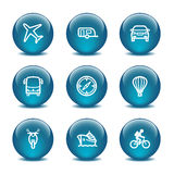 Glass ball web icons, set 20. Vector icons set for internet, website, guides Stock Images
