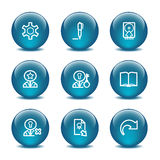 Glass ball web icons, set 6 Stock Photography