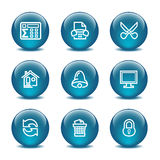 Glass ball web icons, set 7 Royalty Free Stock Photo
