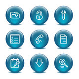 Glass ball web icons, set 8 Stock Image