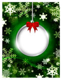 Glass ball wit place for text over christmas background Stock Images
