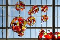 Glass Balloons On Ceiling Stock Photo