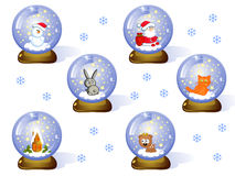Glass-balls-(Сristmas-set) Royalty Free Stock Photo