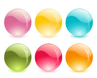 Glass balls. Set of glass balls Royalty Free Stock Image