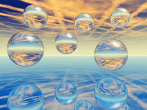 Glass Balls Royalty Free Stock Photos