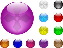 Glass balls. Color balls glass vector illustration stock illustration