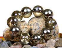 Glass balls bracelet Stock Images