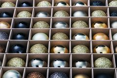 Glass balls for the Christmas tree Stock Images