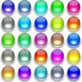 Glass balls generated texture Stock Photos