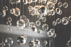 Glass Balls. Bubbles interior design light Royalty Free Stock Photo