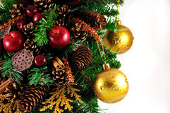 Glass balls hanging on the Christmas tree Royalty Free Stock Photo