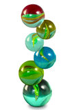 Glass balls isolate Stock Image