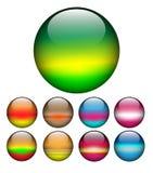Glass balls, spheres. vector illustration