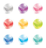 Glass balls in a vector Stock Photography