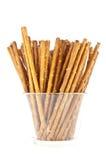 glass banasaltsticks för clipping Arkivfoton