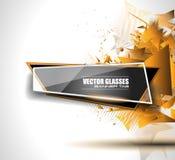 Glass baner med abstrakta Shape och glansig effekt stock illustrationer