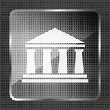 Glass bank icon Royalty Free Stock Photography