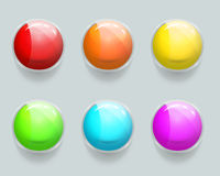 Glass banner or frames. Vector glossy web buttons Stock Photography