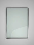 Glass banner with metallic frame Stock Photo
