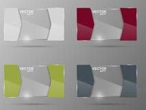Glass banner set. Design template. Stock Photos
