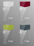 Glass banner set. Design template. Royalty Free Stock Image