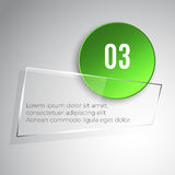 Glass banner Royalty Free Stock Photos
