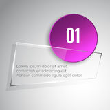 Glass banner Stock Photography