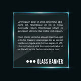 Glass banner vector Royalty Free Stock Photography