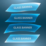 Glass banners eps10. Blue glass banners set eps10 Vector Illustration