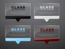 Glass banners with quote bubble Stock Photos