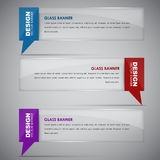 Glass banners with quote bubble Royalty Free Stock Photo