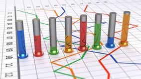 Glass bar graph Stock Photography