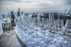 Glass in bar Royalty Free Stock Photography