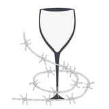 Glass and barbed wire Stock Images