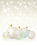 Glass baubles pastel Stock Images