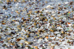 Glass beach background. Close up of the glass pebbles that blanket this Beach in Fort Bragg Stock Photos
