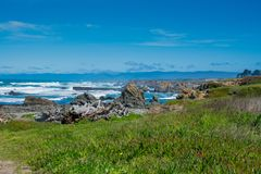 Glass beach Fort Bragg California stock photography