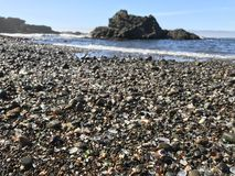 Glass Beach. In Fort Bragg California Royalty Free Stock Photography