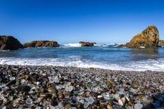 Glass Beach, Fort Bragg, California Royalty Free Stock Image