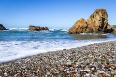 Glass Beach, Fort Bragg, California Royalty Free Stock Photography