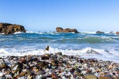 Glass Beach, Fort Bragg, California Royalty Free Stock Photo