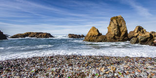 Glass Beach, Fort Bragg California Stock Photos