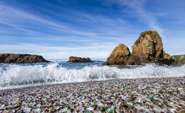 Glass Beach, Fort Bragg California Royalty Free Stock Images