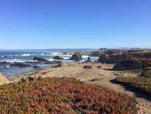 Glass Beach in Fort Bragg royalty free stock photos