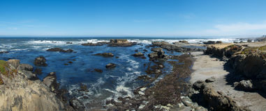 Glass Beach Panorama Stock Photos